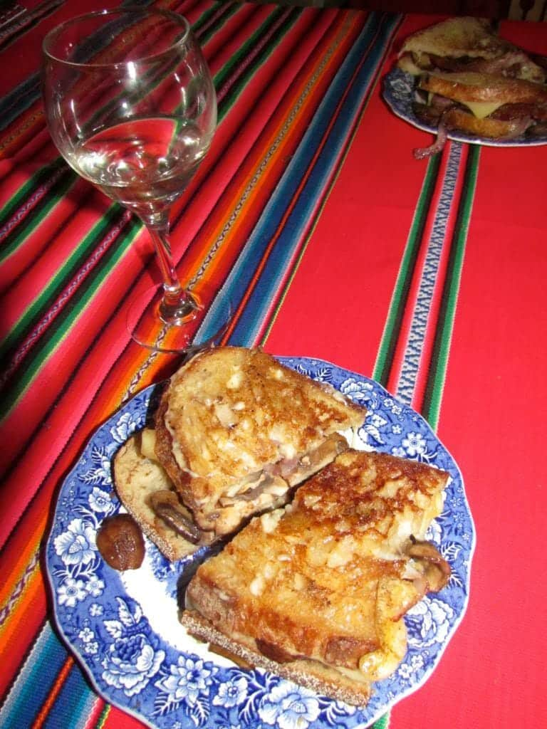 Grilled Cheese and a Glass of Wine make a perfect dinner.