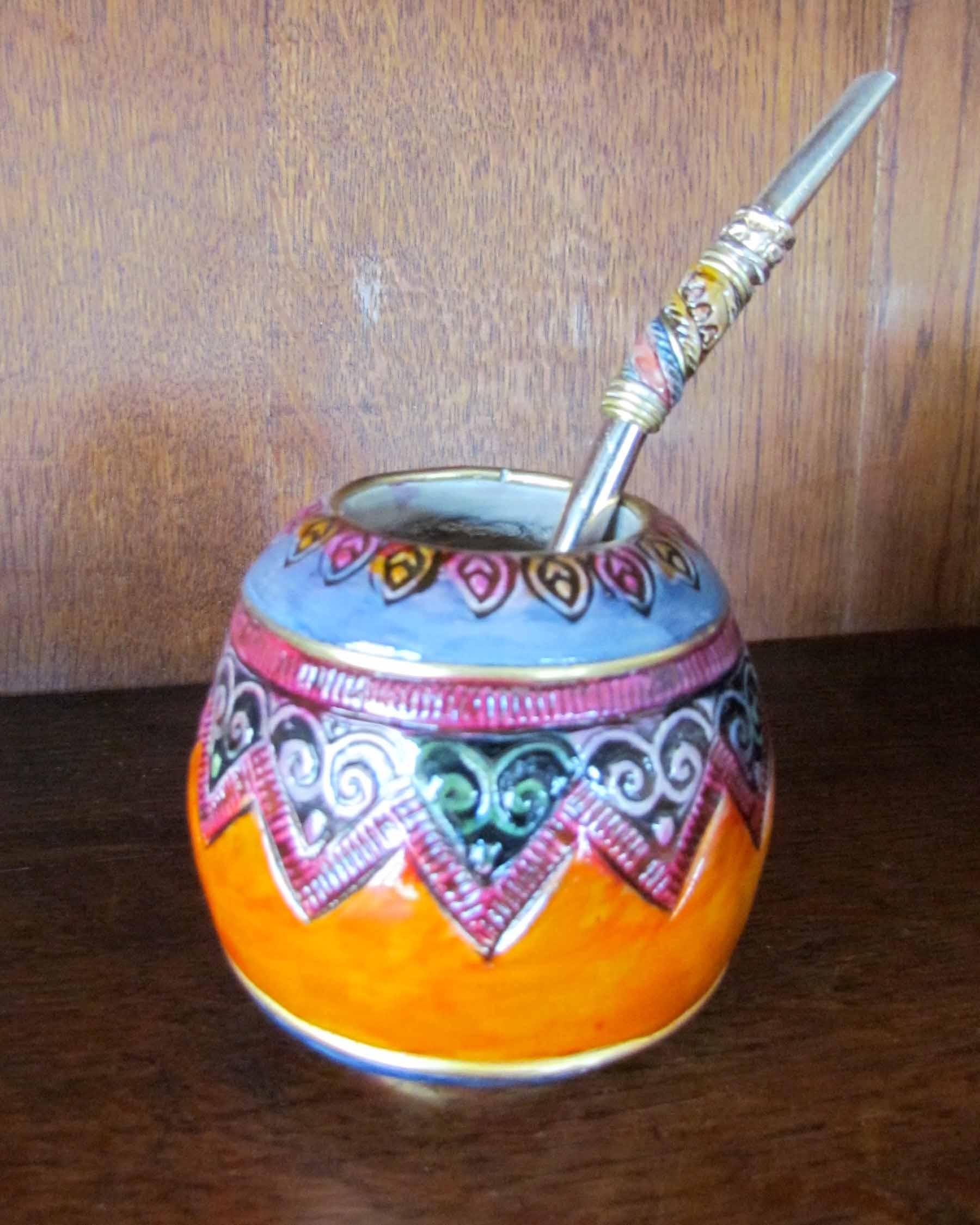 Ceramic Mate with Bombilla