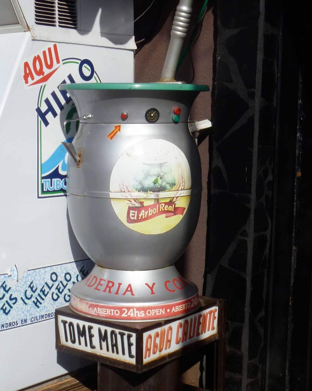 Hot water for purchase, Argentina.