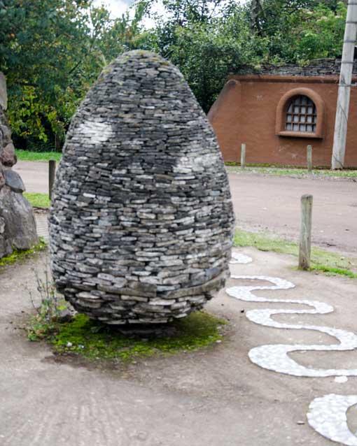 Stone sculpture, Las Termas de Papallacta, Ecuador | ©Angela Drake