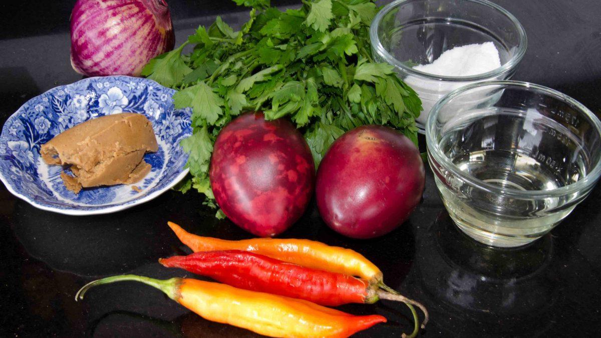 Cut and peel the plantain, recipe for Bolón de VerdeIngrediants for Ecuadorian Hot Sauce a Los Mortiños