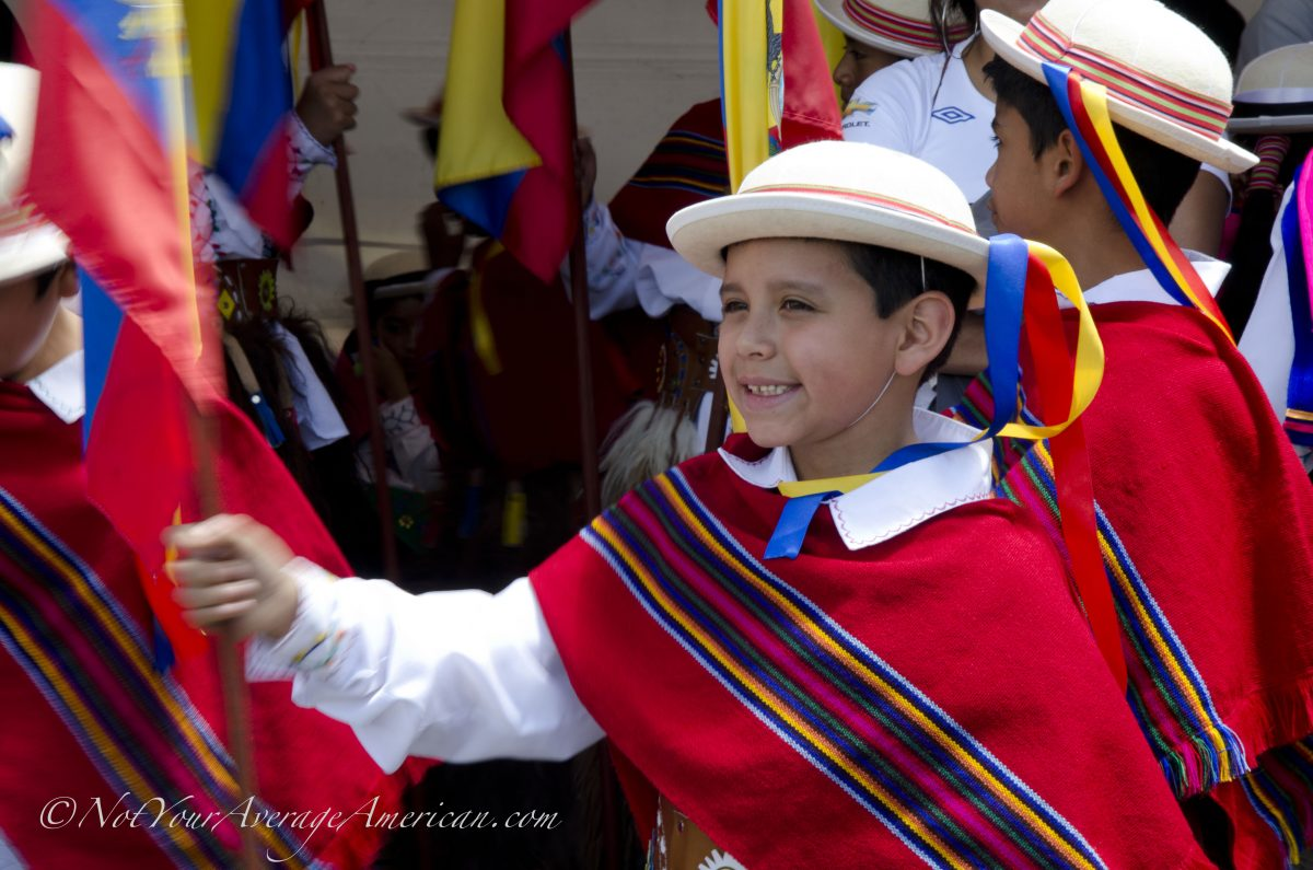 A Proud Ecuadorian school child, Palm Sunday, Quito | ©Angela Drake