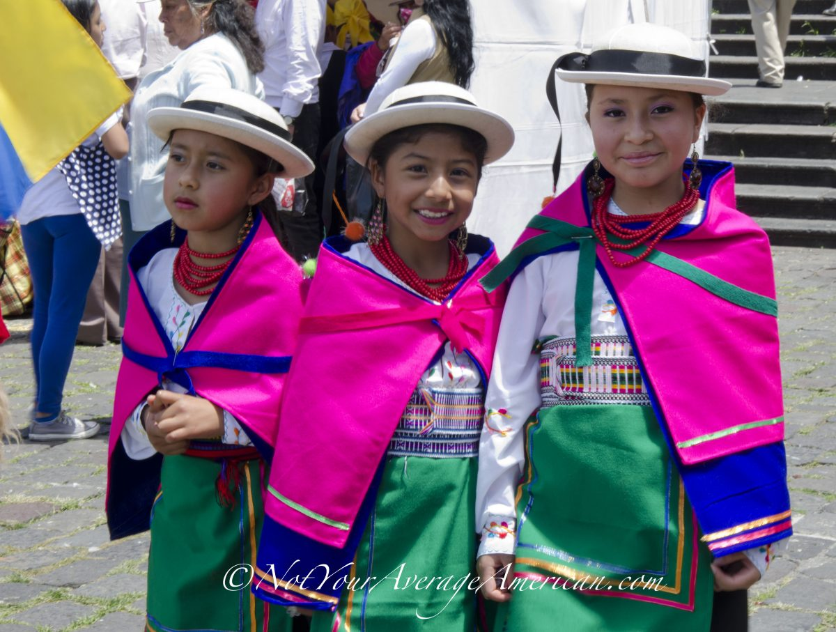 School girls dressed in traditional costumes for the Palm Sunday procession | ©Angela Drake
