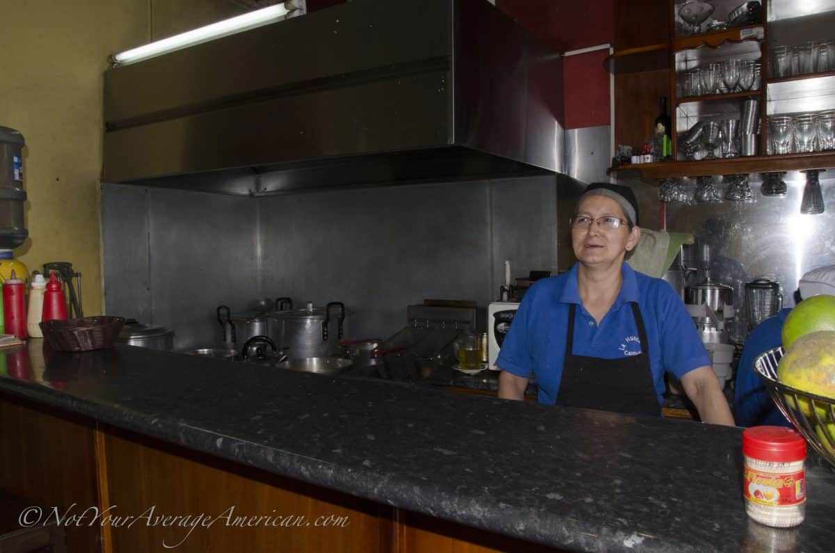 The chef and her immaculate kitchen | ©Angela Drake