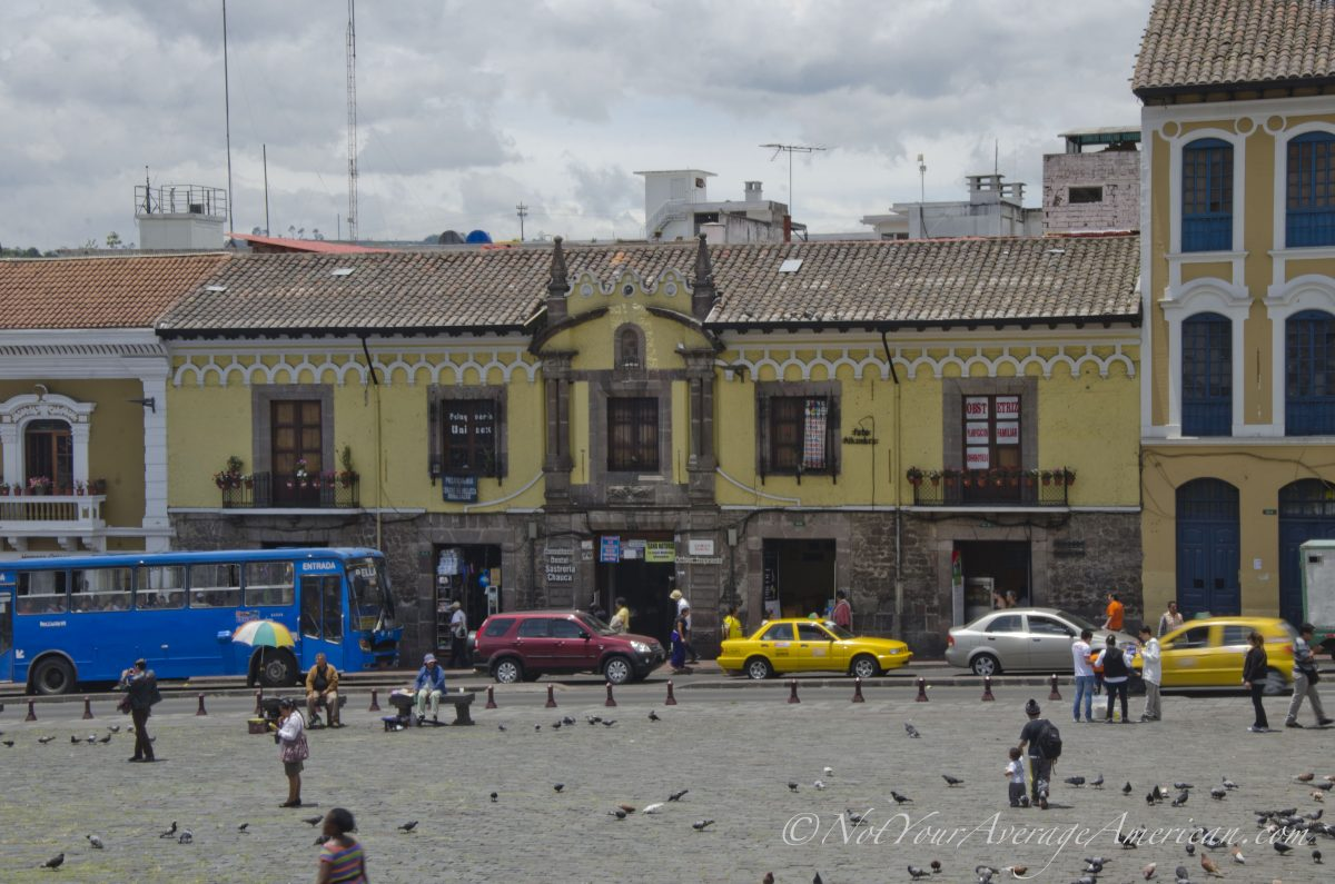 The colonial building that houses La Hueca de Cantuña (2nd space from the right)| ©Angela Drake