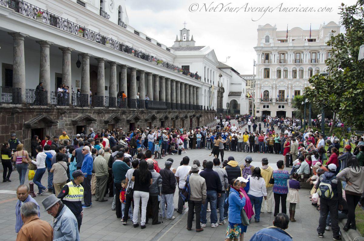 A little Argentine Tango, Quito Historic Center, Ecuador