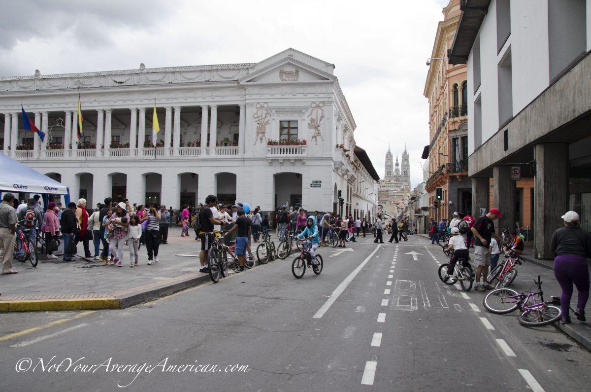 The main thoroughfare, Quito Historic Center, Ecuador