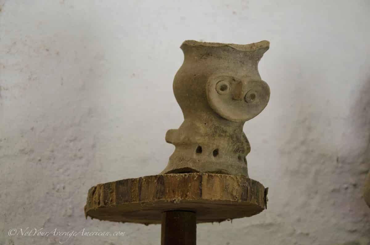 This figurine is probably an owl, Chirije Museum, Manabi, Ecuador