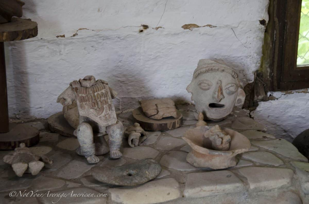Various figures found in the Chirije Museum, Manabi, Ecuador
