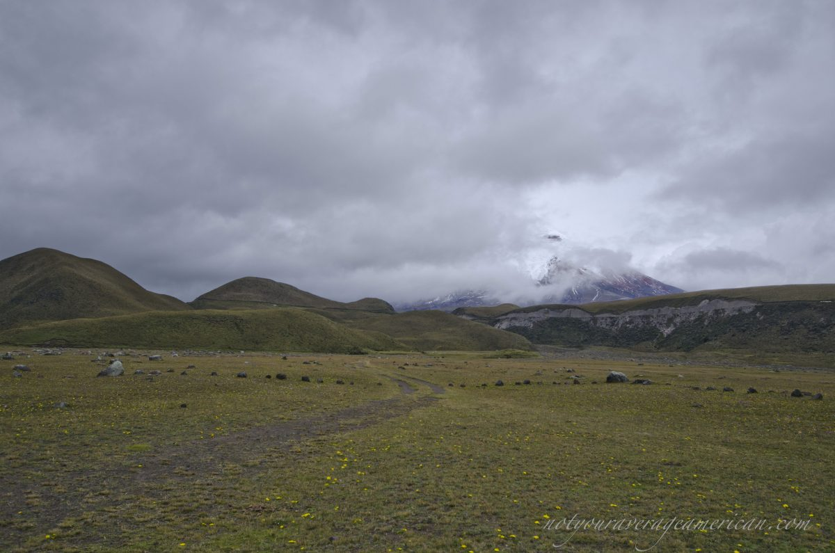 A glimpse of the Volcano, Cotopaxi National Park, Ecuador