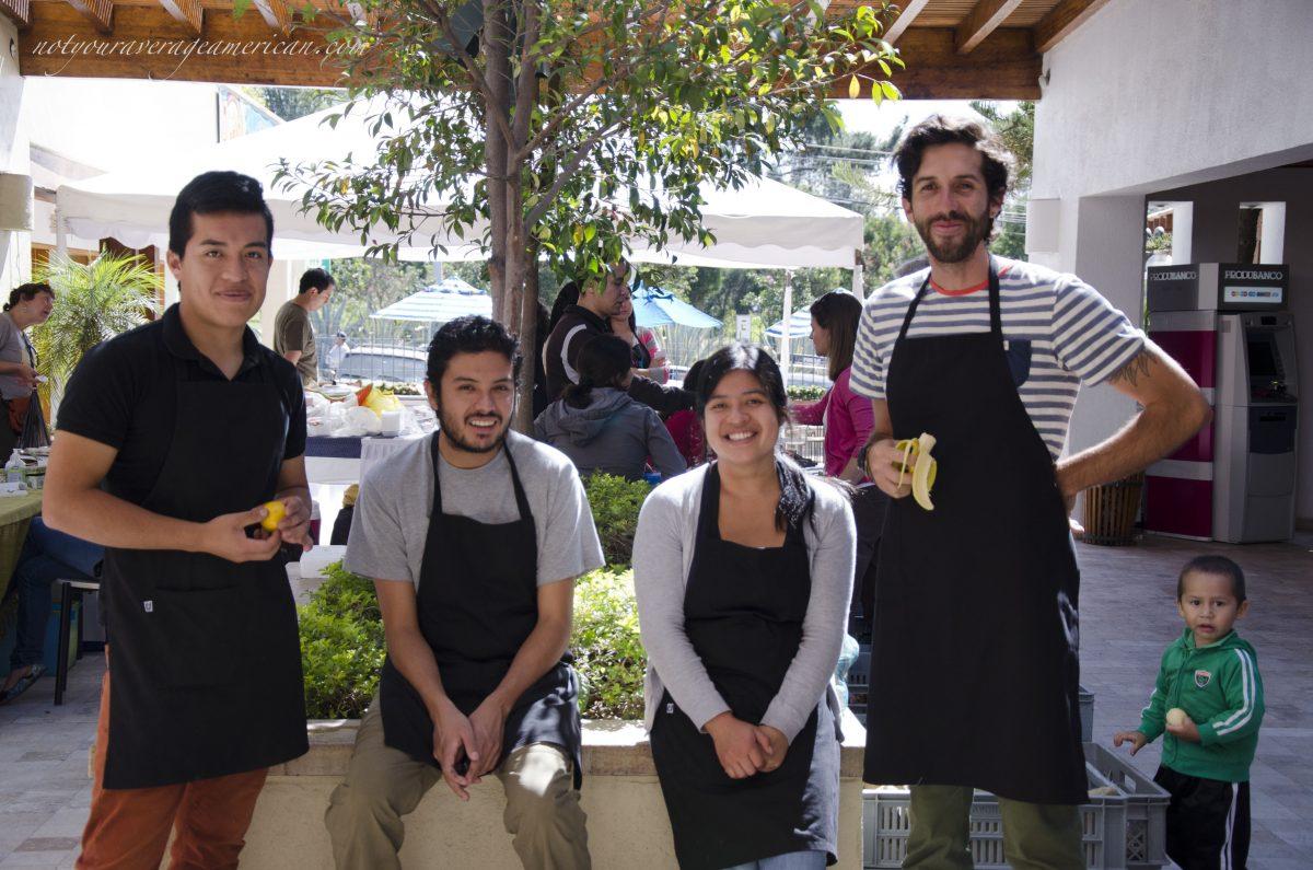 Team Members at the Market in La Equina, Cumbaya, Ecuador