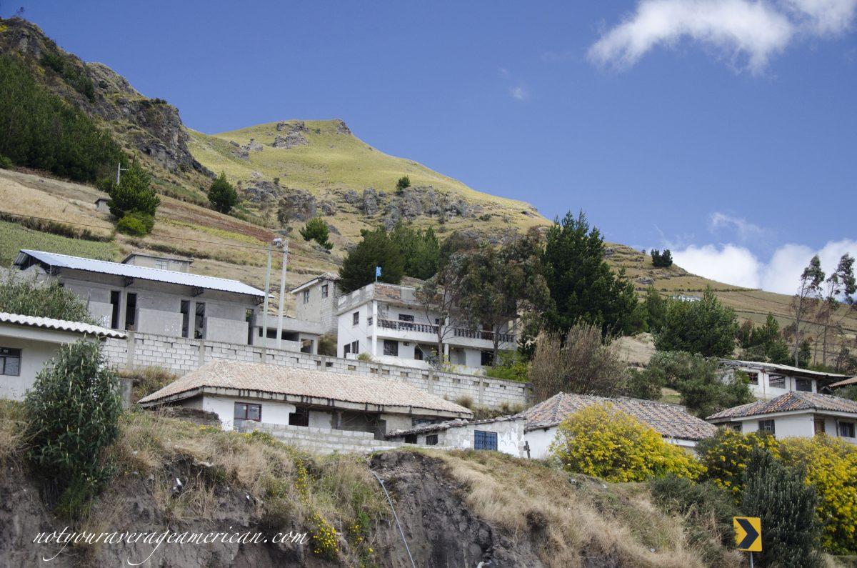 The scene that led us across the street in Tigua, Ecuador