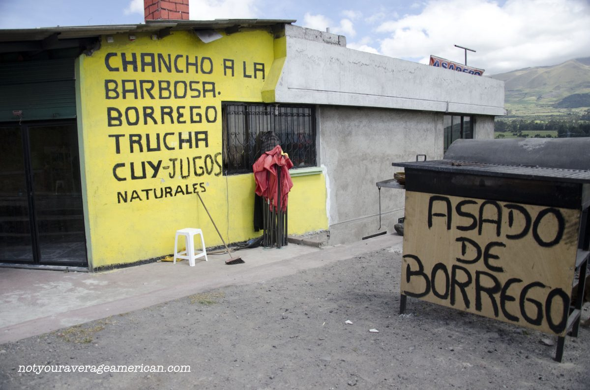On the right hand side of the highway, just as you're going up hill past the toll booth after Machachi, sits a small, unassuming restaurant, Cuencana Sabor | ©Angela Drake