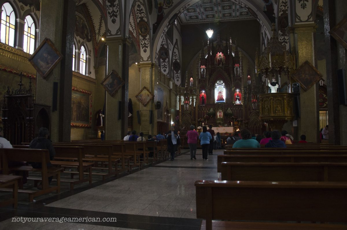 The Basilica del Agua Santa, Baños, Ecuador
