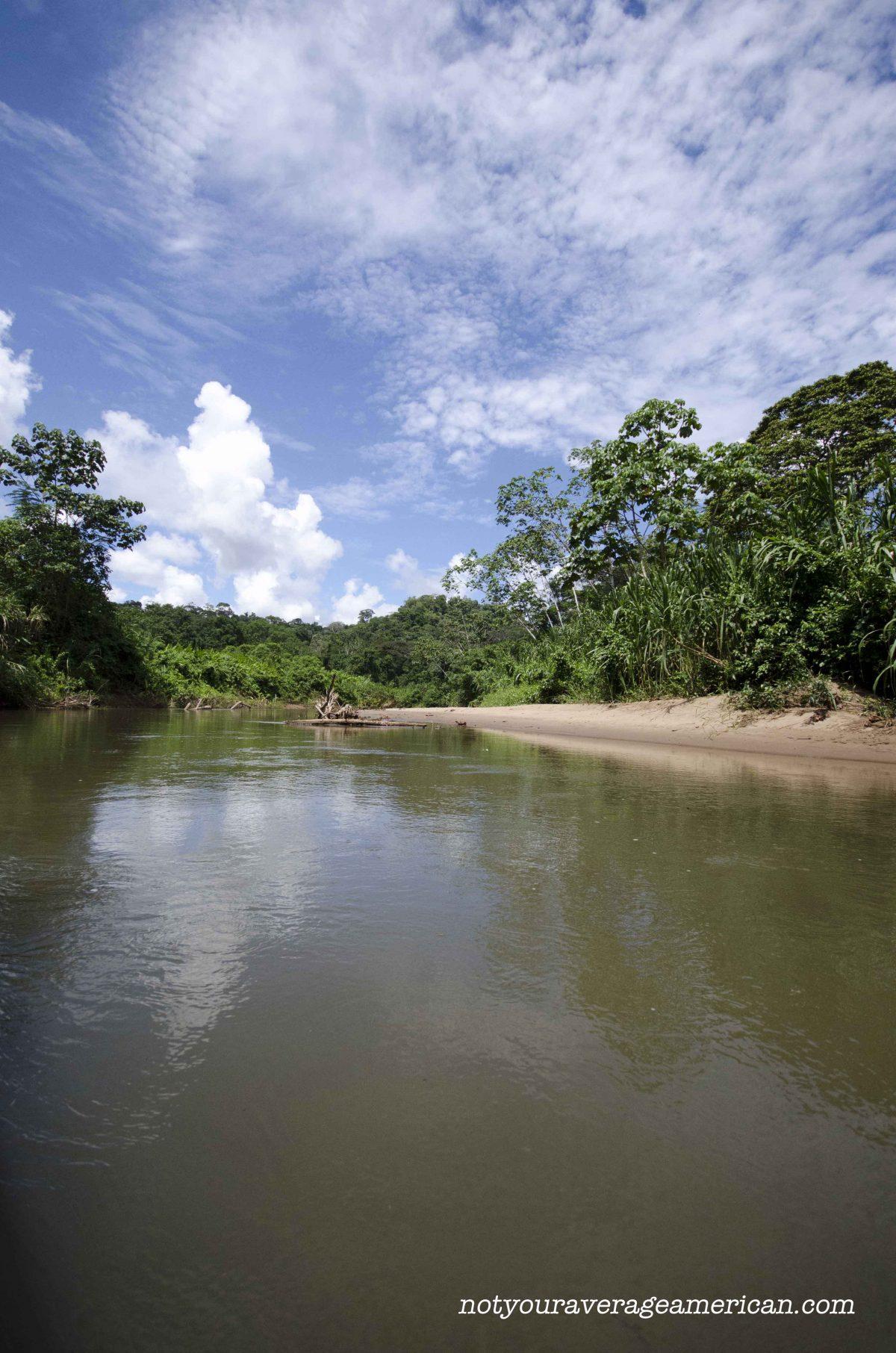 The river that runs through Huaroani Territory is the Rio Shirpuno, Huaorani Lodge
