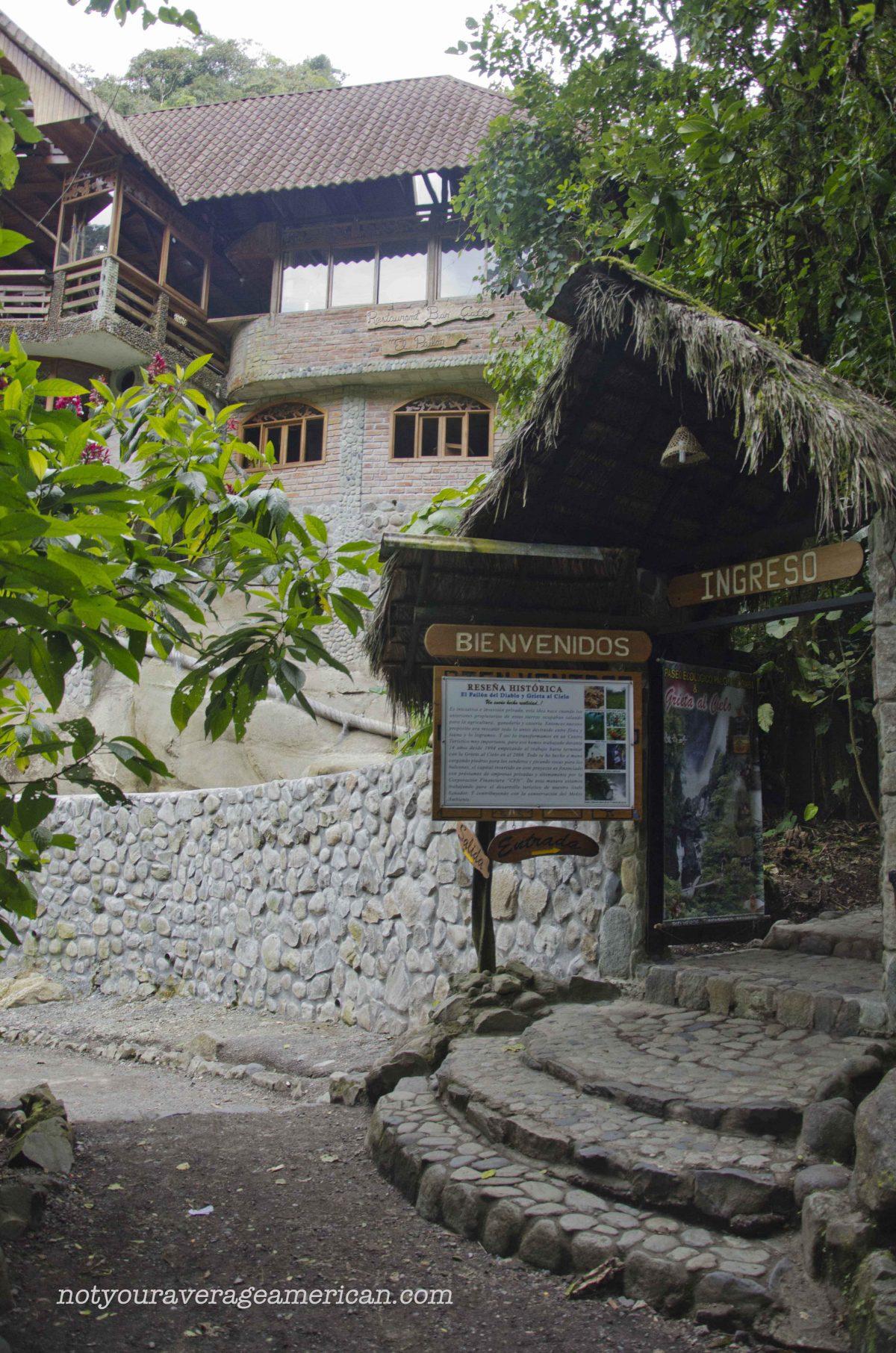 A Curtain of Water, The Pailón del Diablo, Baños, Ecuador