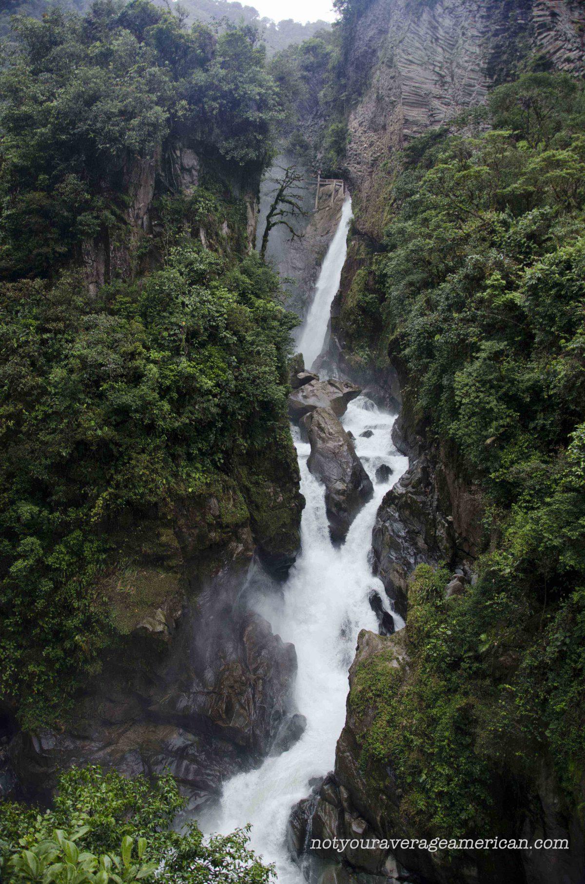 The Pailón del Diablo, Baños, Ecuador