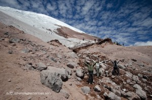 The trail to the glacier has some steep parts but it is well marked and well maintained making the hike very manageable.
