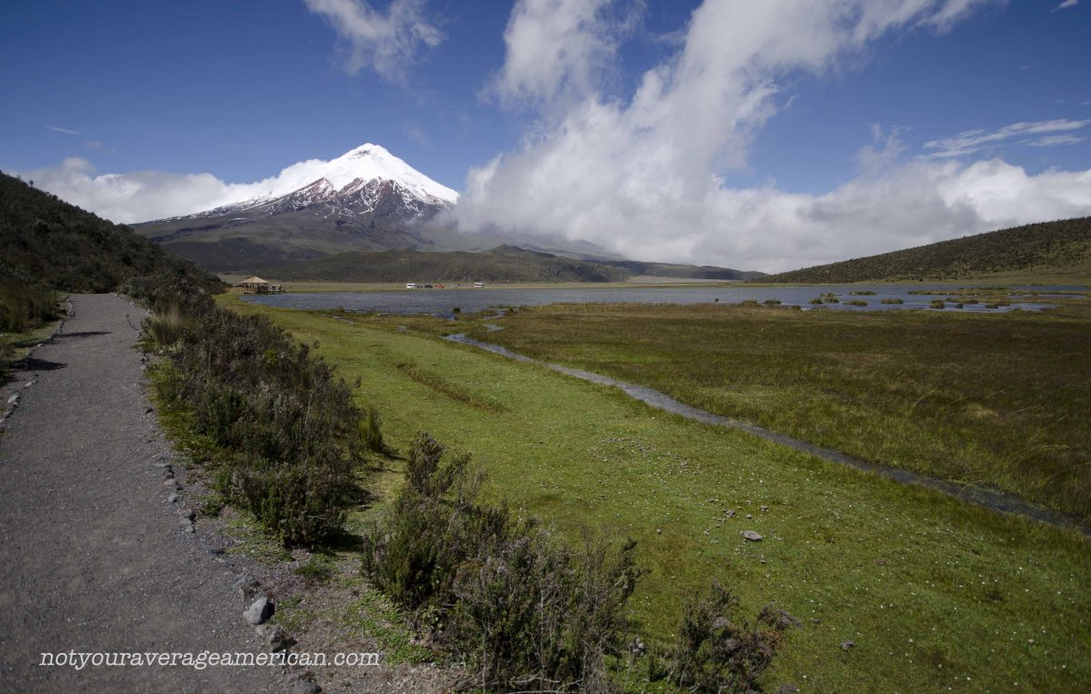 It's a good sign to start the hike with Cotopaxi in clear view | ©Angela Drake