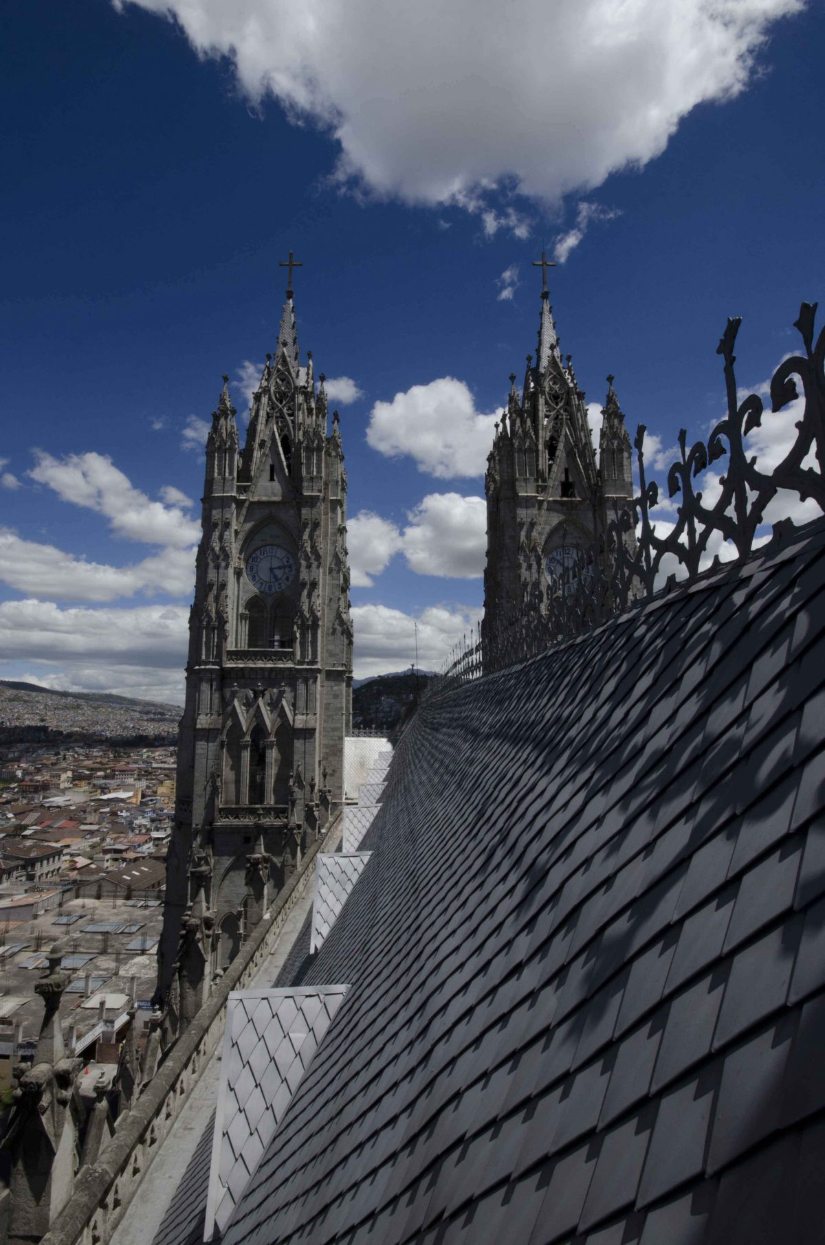 Detail of the Basilica Rooftop, Quito, Ecuador | ©Angela Drake