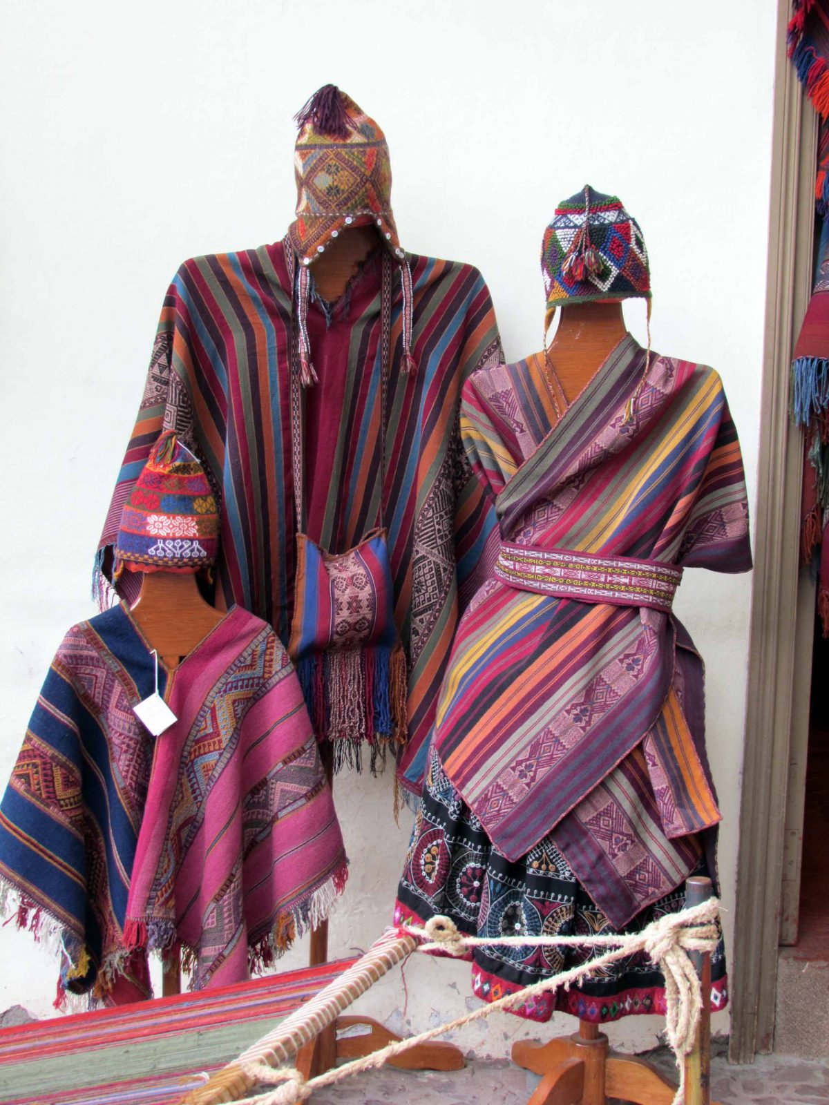 Samples of work for sale; The Center for Traditional Textiles of Cusco, Peru | ©Angela Drake