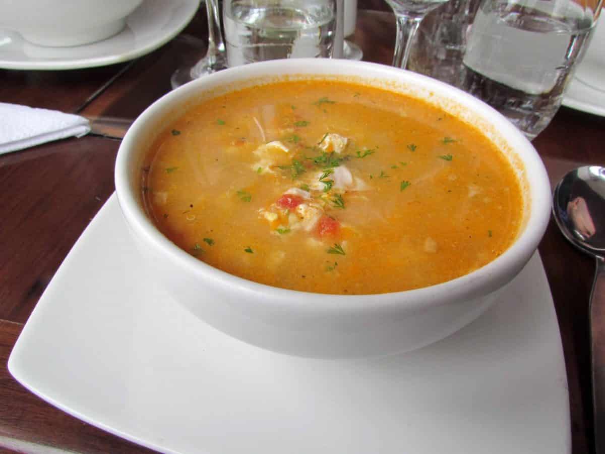 Soup with vegetables and quinoa; Cusco, Peru   ©Angela Drake