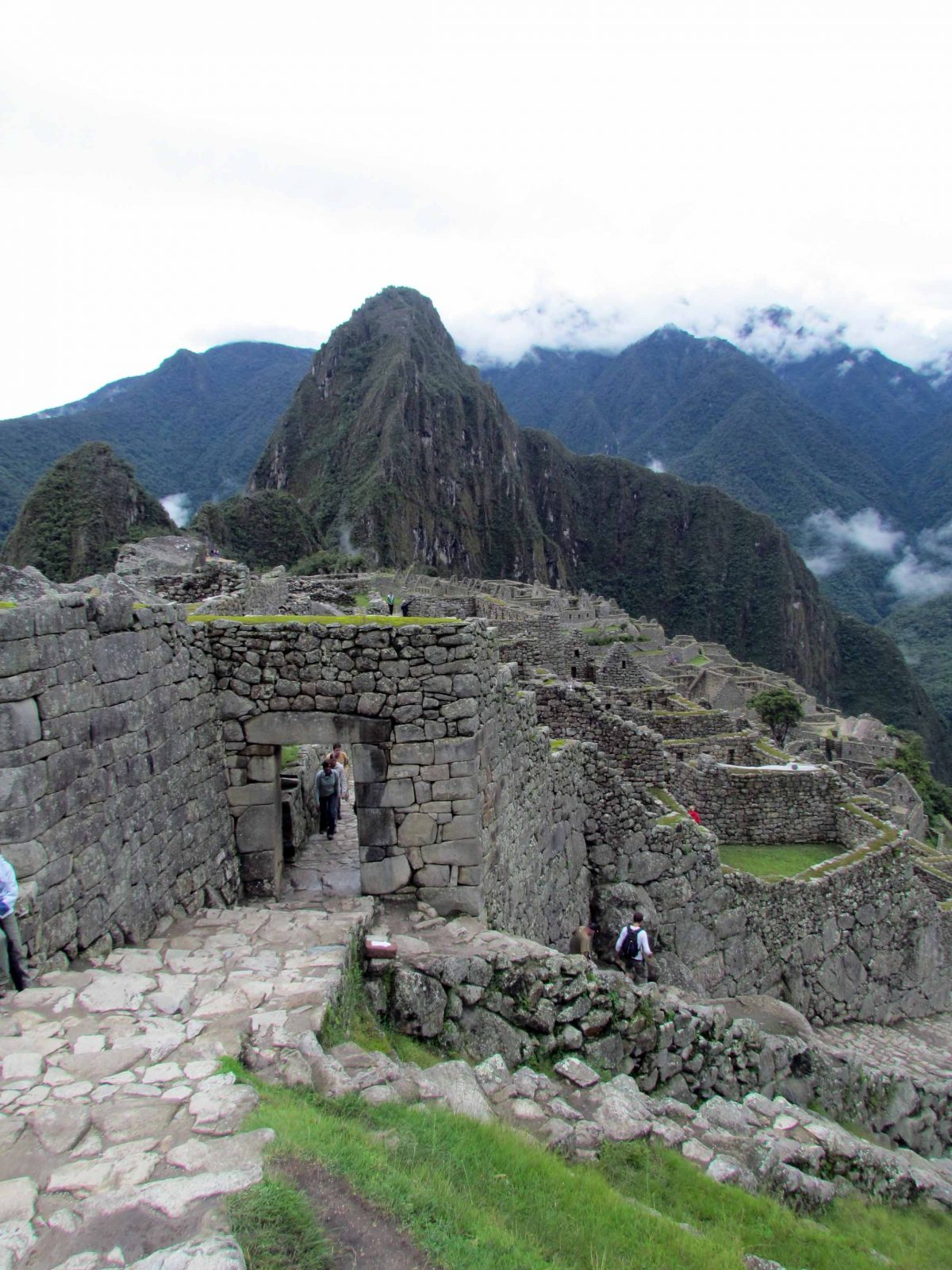 Wayna Picchu stands behind Machu Picchu, Peru   ©Angela Drake