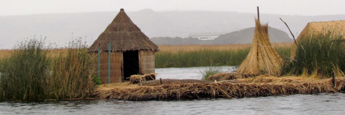 A floating island of the Uros, Puno, Peru | ©Angela Drake