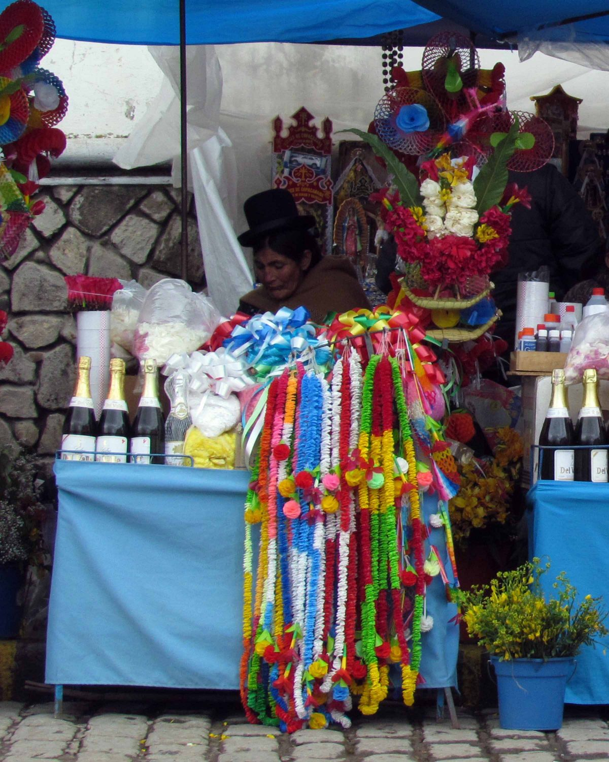 Vendor near Cathedral of Copacabana, Bolivia | ©Angela Drake