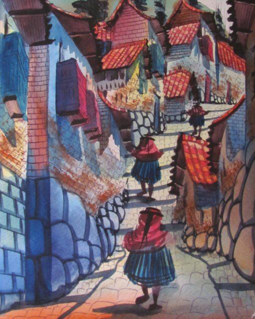 A painting we purchased in Cusco, Peru   ©Angela Drake