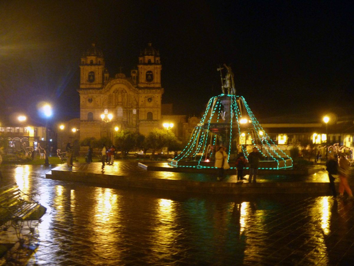 Plaza de Armas with the Cathedral in the background, Cusco, Peru   ©Angela Drake