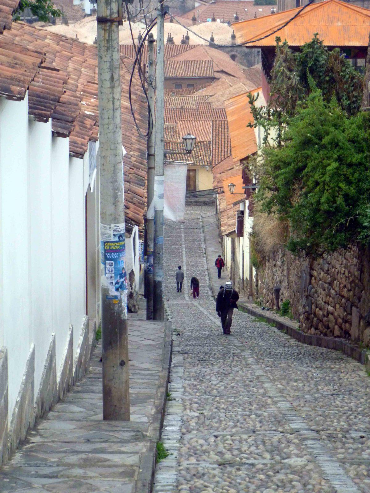A cobblestone street in Cusco, Peru | ©Angela Drake
