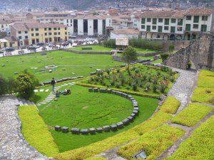 The gardens at Qoricancha, aka the Santa Domingo Church; Cusco, Peru | ©Angela Drake
