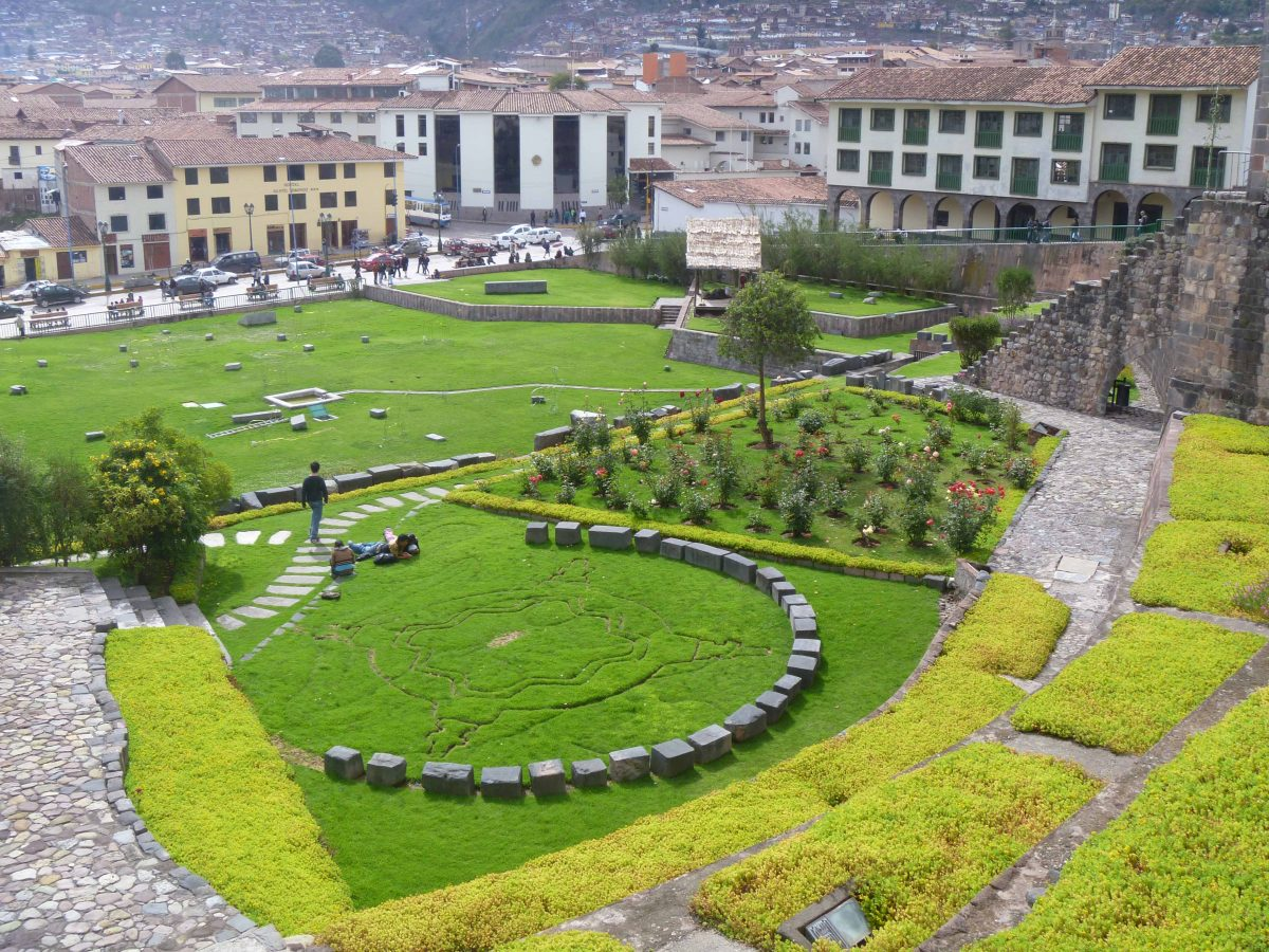 The gardens at Qoricancha, aka the Santa Domingo Church; Cusco, Peru | ©Angela Drake