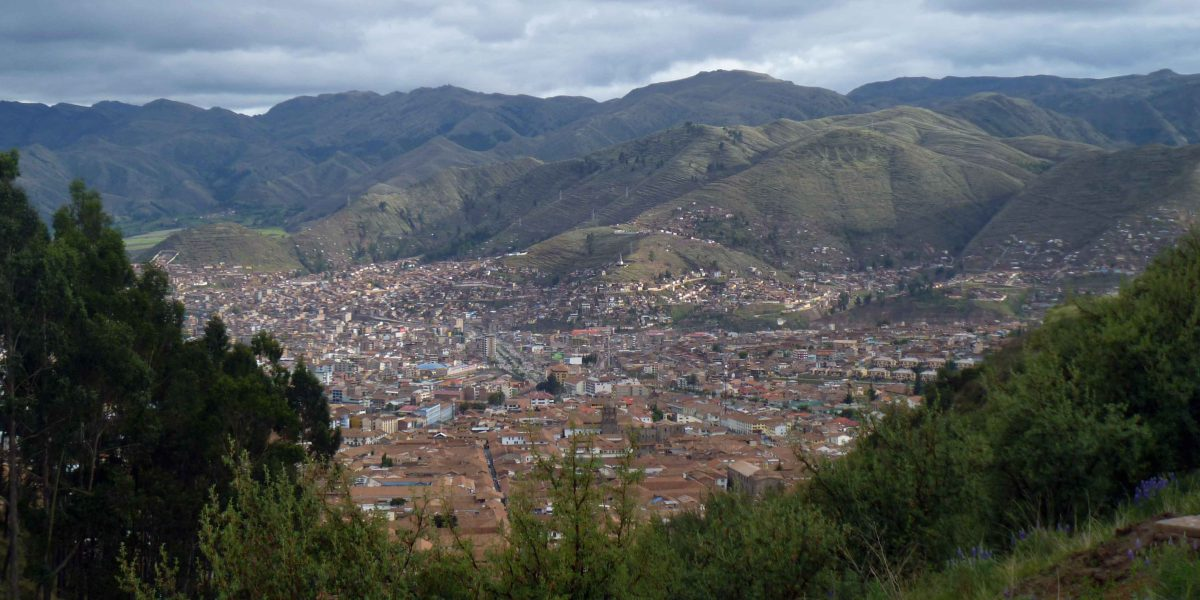 View of Cusco from nearby foothills | ©Angela Drake