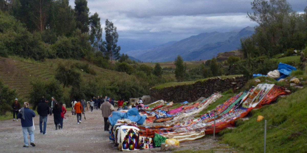 Vendors at Tambomachay, Cusco, Peru   ©Angela Drake