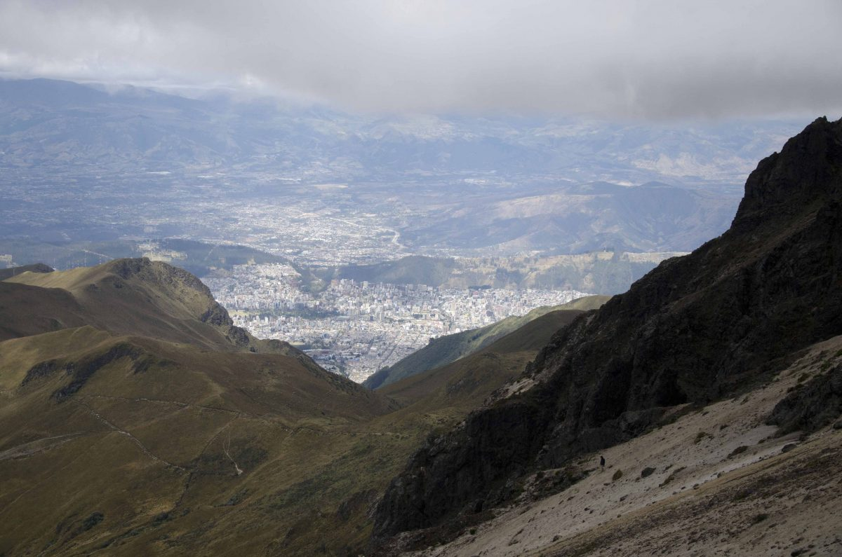 Quito from high on the slope of Rucu Pichincha | ©Angela Drake