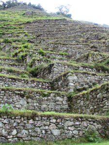 Detail of terrace walls at Intipata