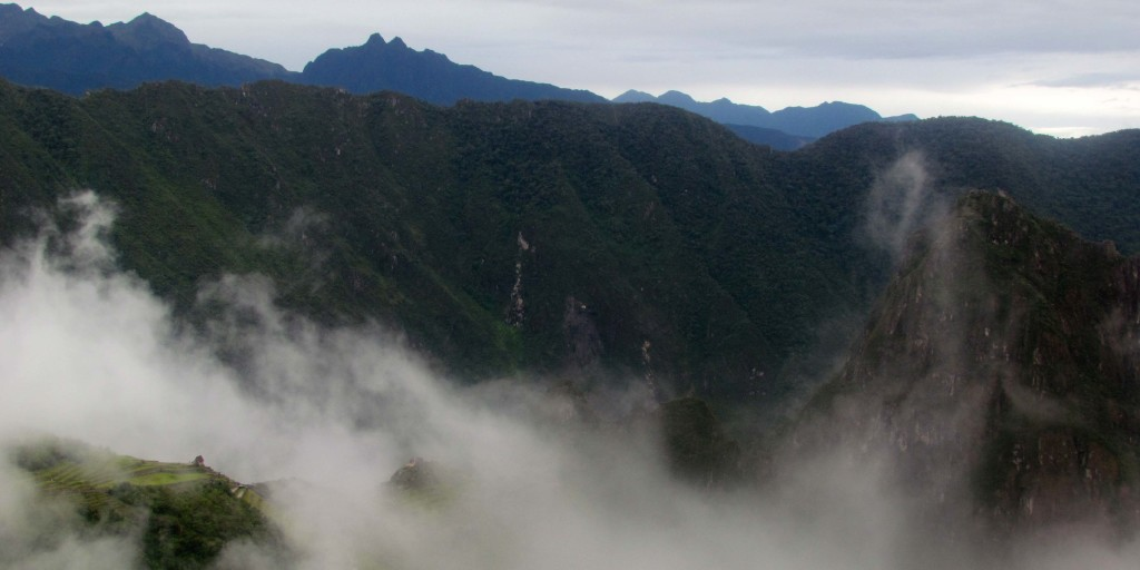 Machu Picchu playing hide-and-seek