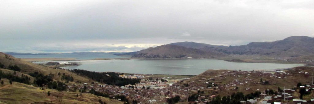 Puno on the shores of Lake Titicaca.