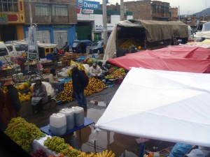 Typical market scene all over Puno.