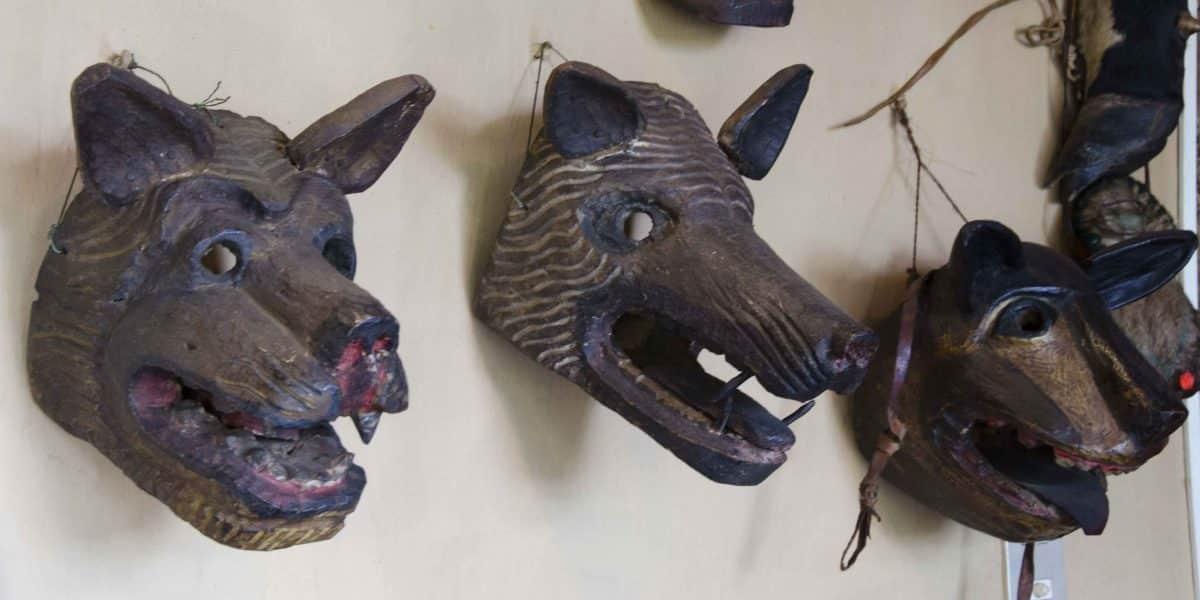 Carved Masks, The Posada Ingapirca, Cañar Province, Ecuador