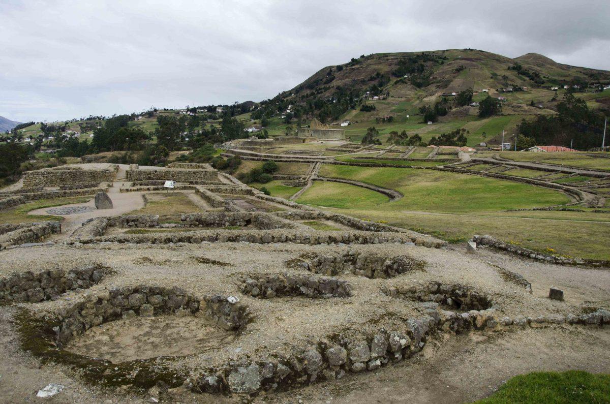Grain Silos, Ingapirca, Cañar Province, Ecuador