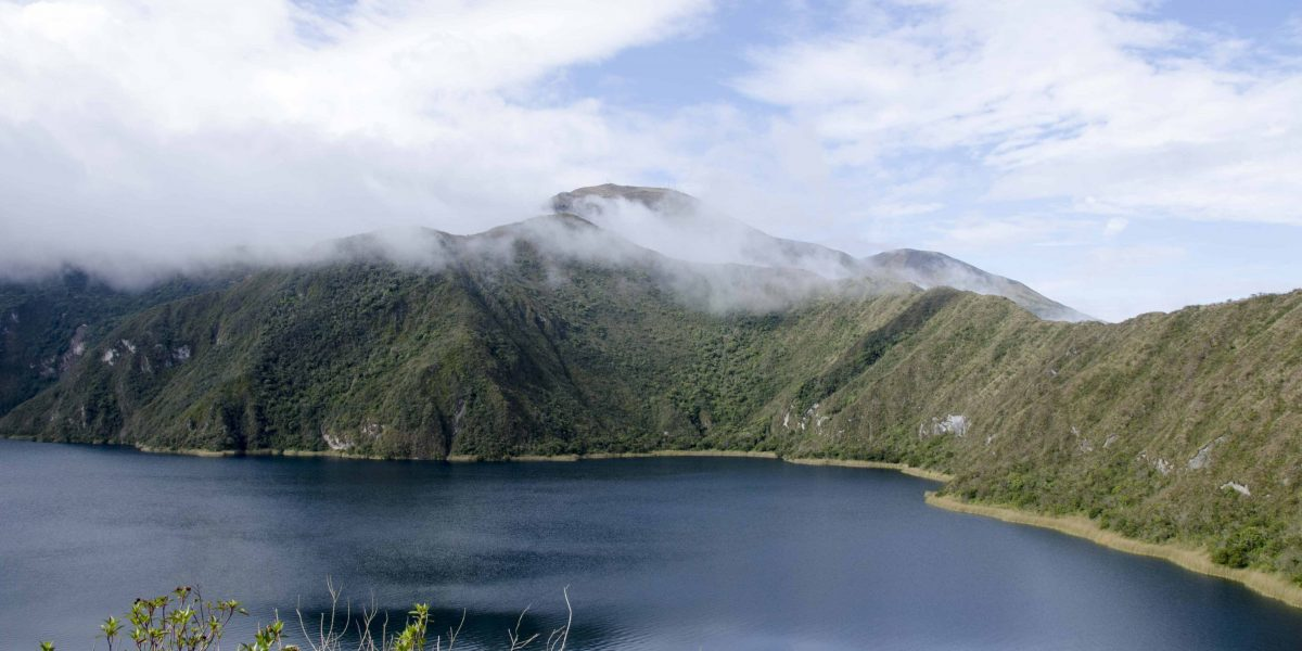 Rapidly Changing Weather Conditions, Laguna Cuicocha, Ecuador