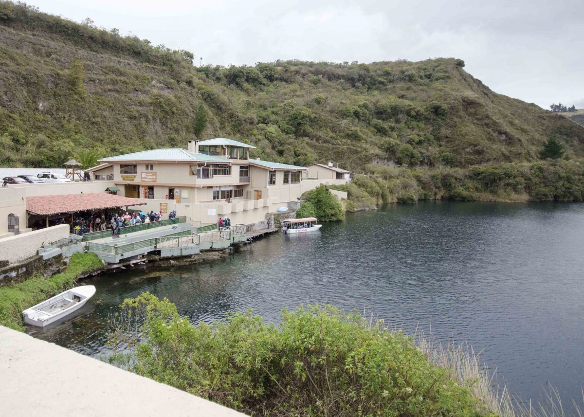 Restaurant and Dock, Laguna Cuicocha, Ecuador