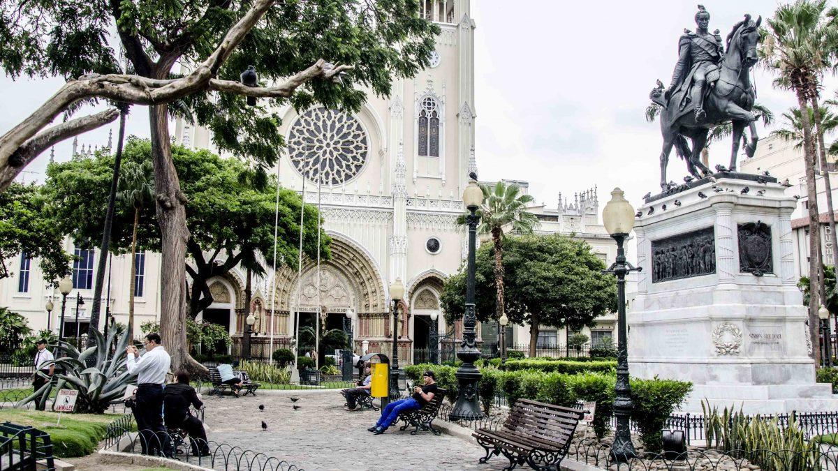 Parque Seminario, Iguana Park, Guayaquil, Ecuador