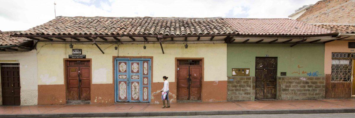 Calle Juan Jaramillo near Calle Hermano Miguel, Cuenca, Ecuador
