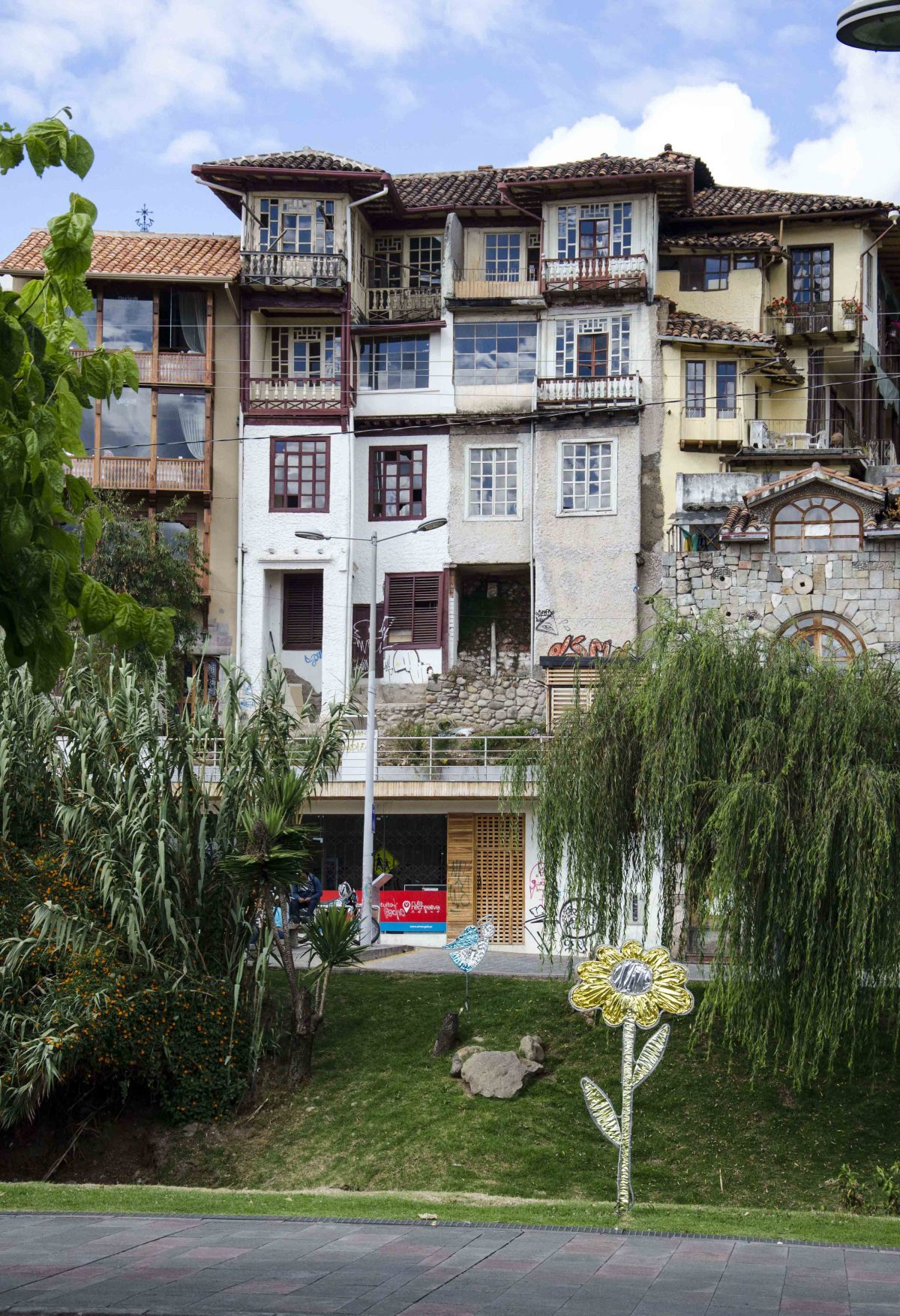 Houses near the Rio Tomebamba, Cuenca, Ecuador