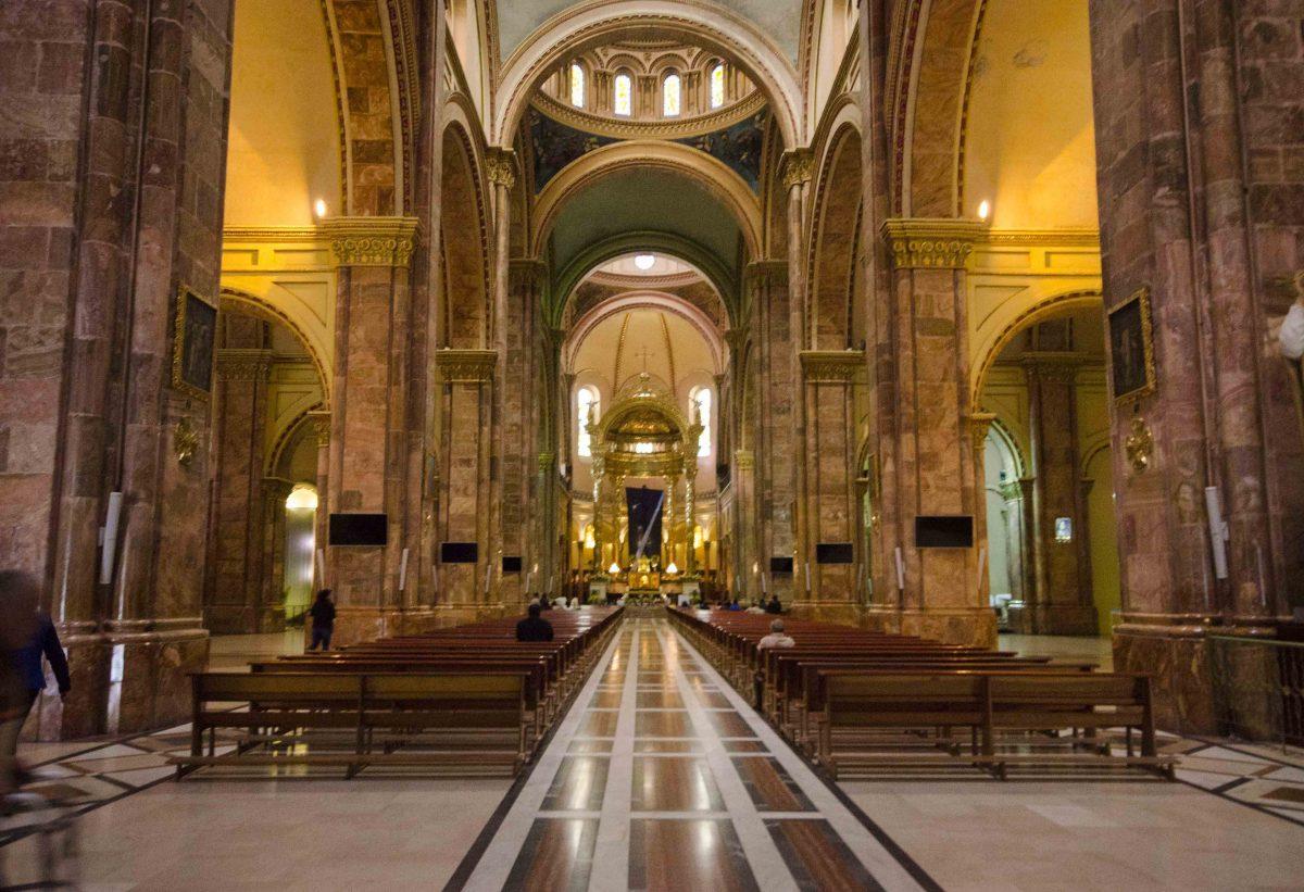 Interior, the New Cathedral, Cuenca, Ecuador