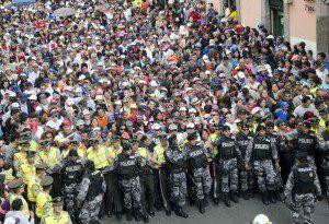 Police Protecting Jesús del Gran Poder